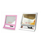 LED mirror clock