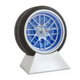 Tyre Alarm Clock With LED Light(4 inch)