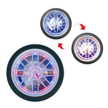 Tyre Wall Clock With Changing Color LED Light(10 inch)